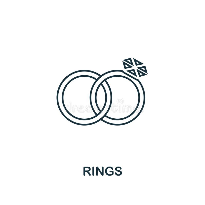 Ring Icon. Premium Style Design From Valentines Day Icons