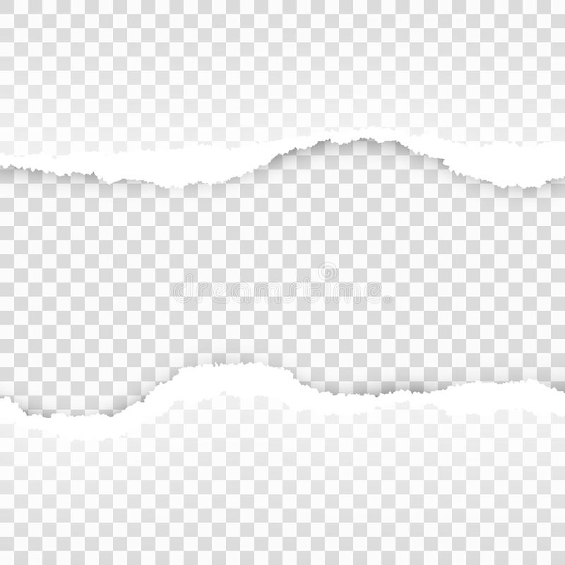Ripped Paper Transparent Template. EPS 10 Vector Stock