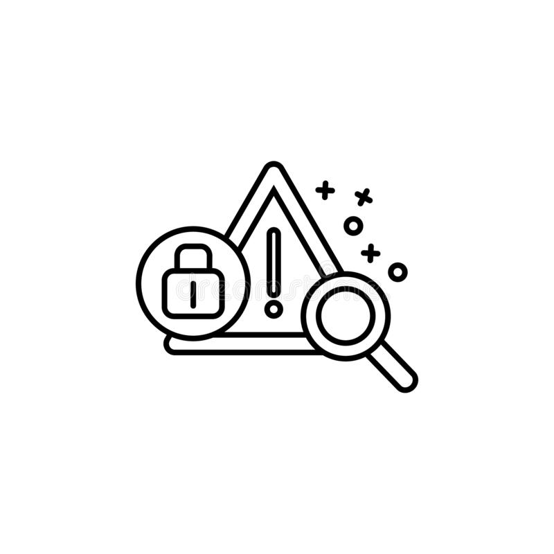 Report Icon With Padlock Sign. Report Icon And Security