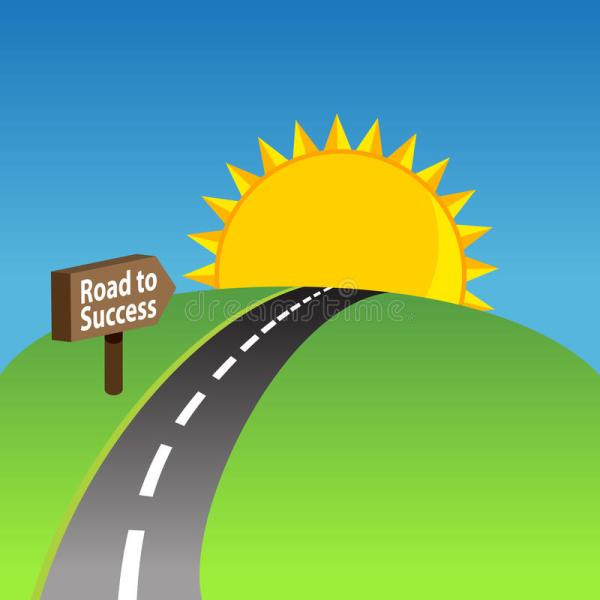 road success background stock