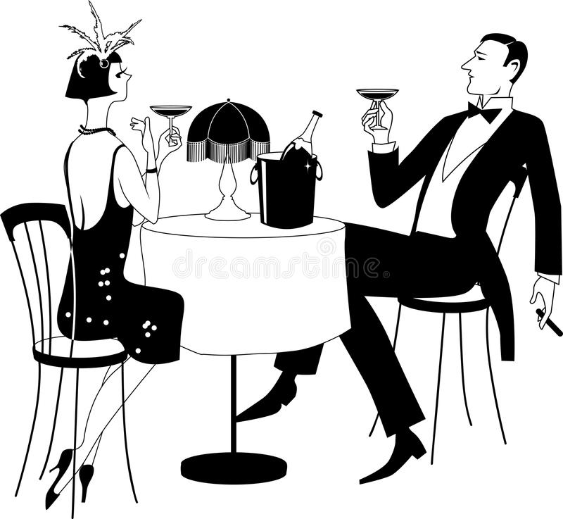 Roaring 1920s party stock vector. Illustration of