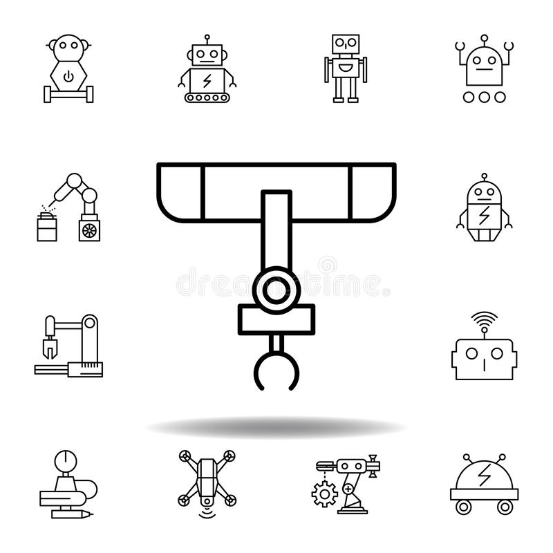 Engineering Manufacturing Industrial Vector Icon Set Stock