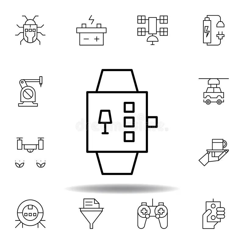 Wearable Technology, Smartwatch Stock Illustration