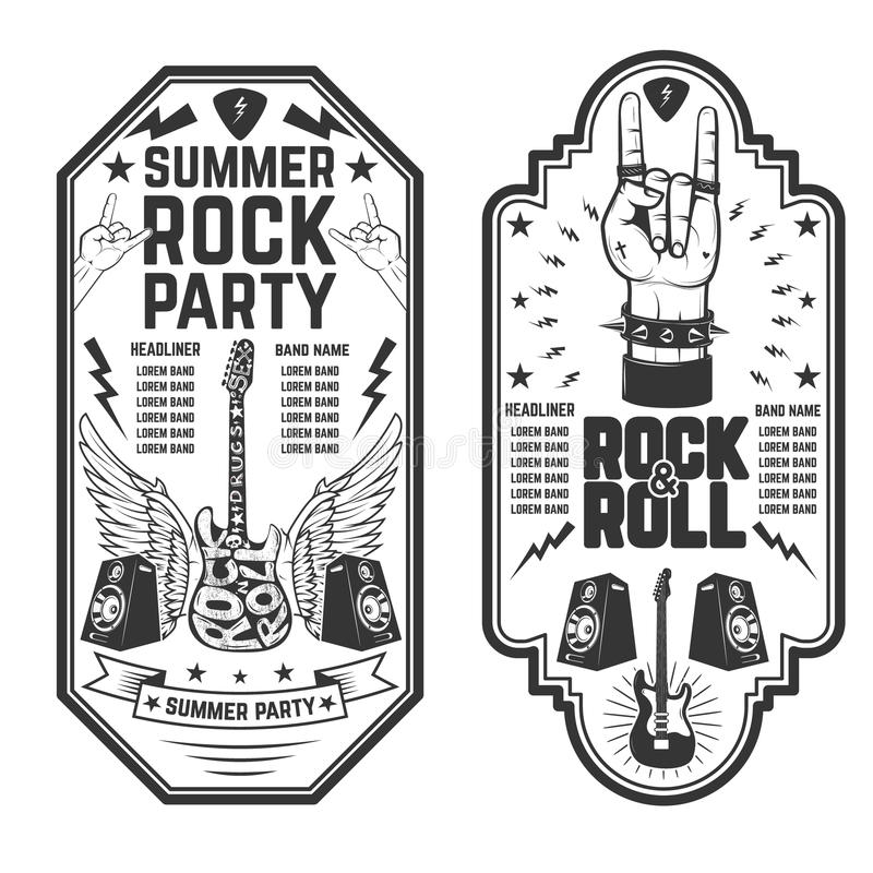 Rock party stock illustration. Illustration of celebrate