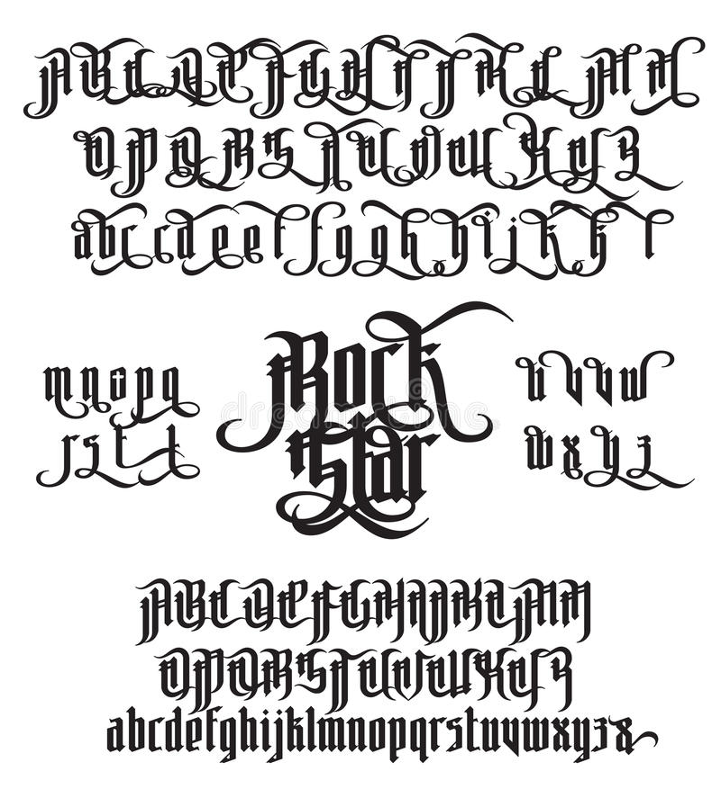 Fashion Ribbon Font Alphabet Calligraphy t