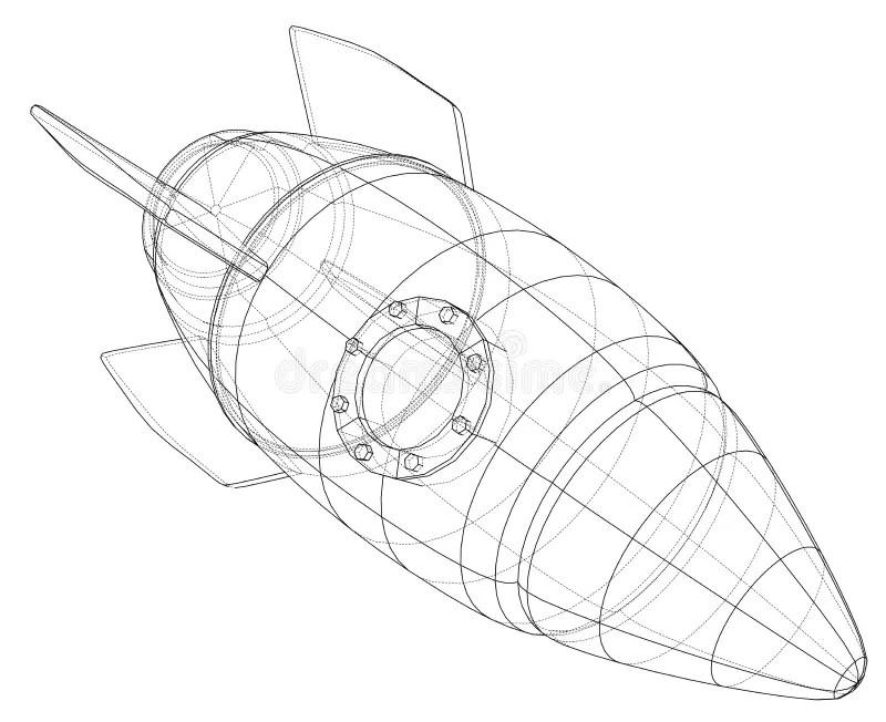 Blueprint Rocket Stock Illustrations