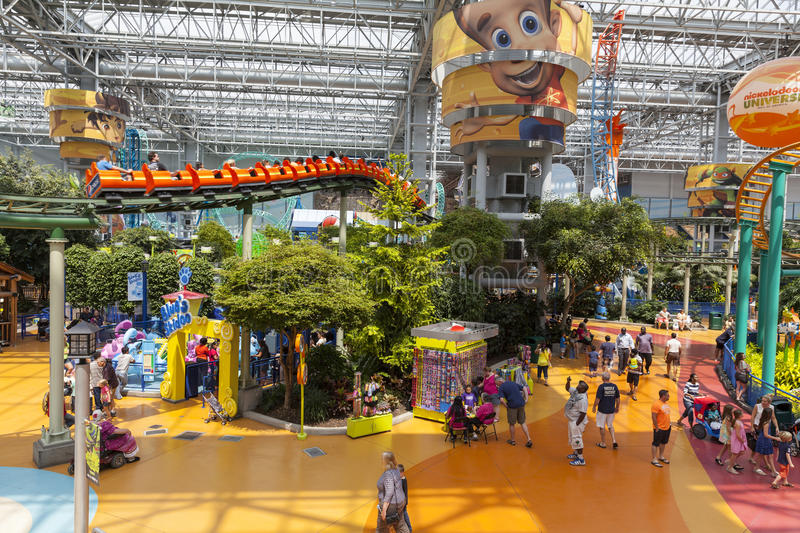 The Amusement Park At Mall Of America In Bloomington. MN On July Editorial Image - Image of minnesota. people: 32236565