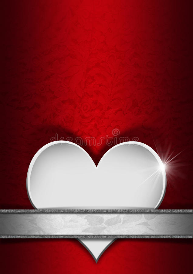Background Red And Silver