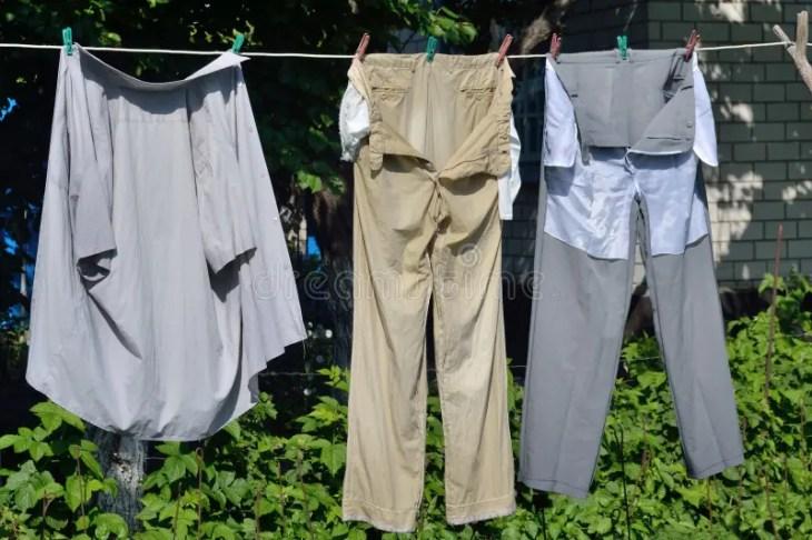 Image result for colada con ropa lavada del reves vaqueros