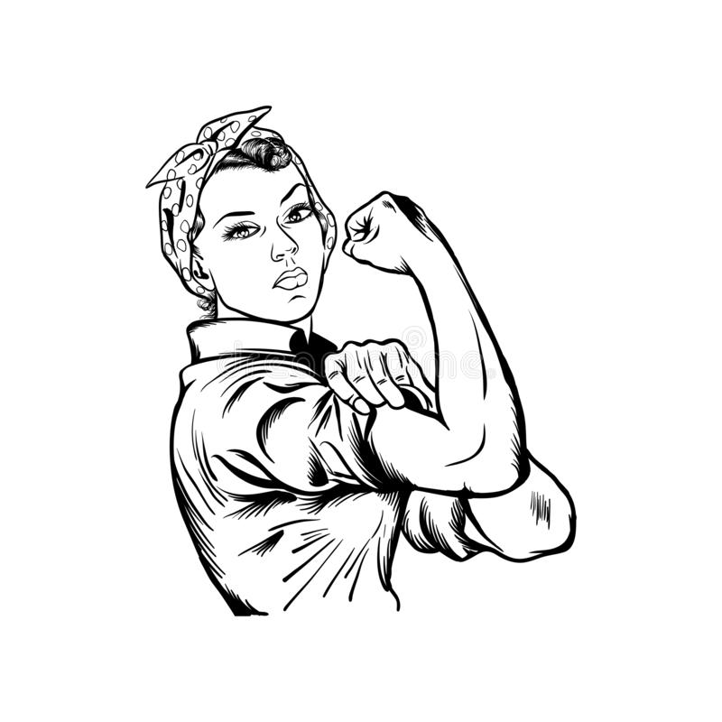 Rosie The Riveter, Feminism Graphic, Women`s Rights Vector