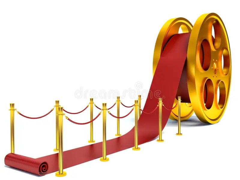 tapis rouge de film illustration stock