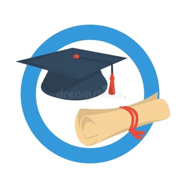 Graduate Cap Icon Round