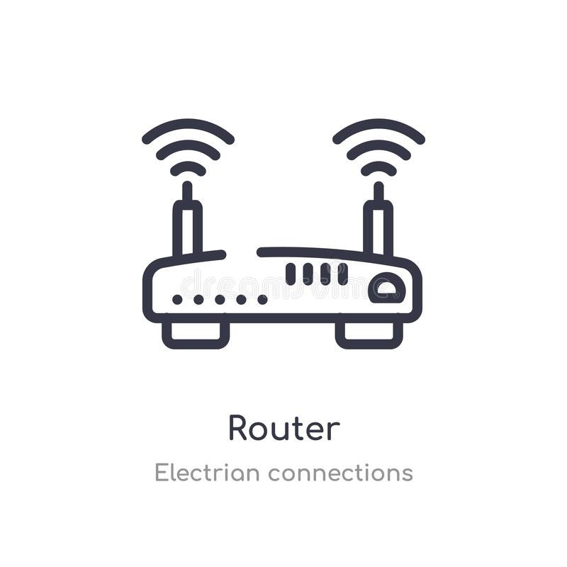 Modern Wireless Internet Router Stock Illustration