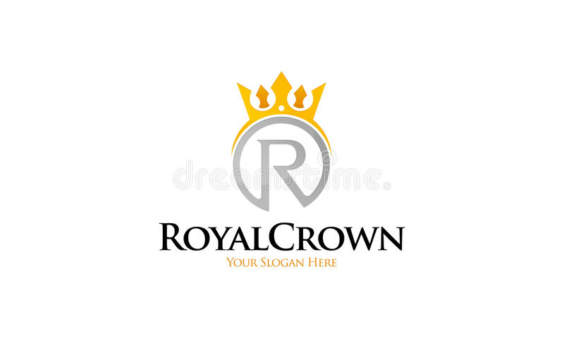 Royal Crown Logo stock vector. Illustration of curl