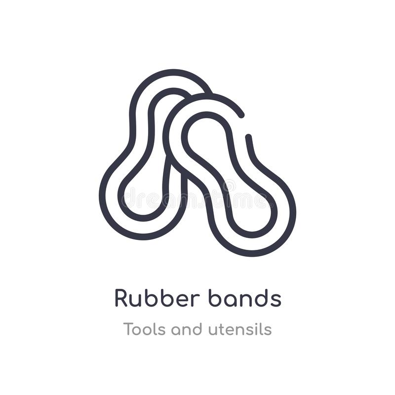 Rubber Band Icon, Vector Illustration Stock Vector