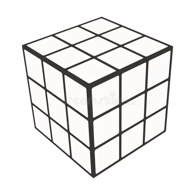 Rubik`s Cube Logo Design Icon, Vector Illustration