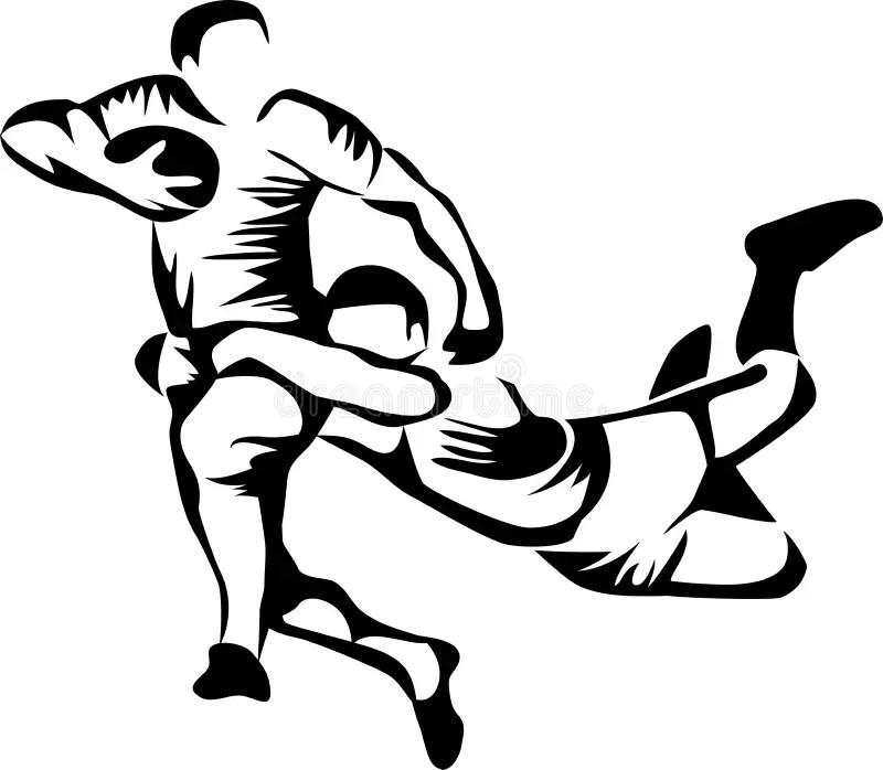 Rugby illustration de vecteur. Illustration du gibier
