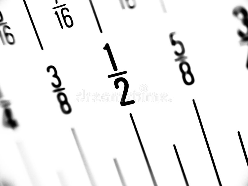 Ruler In Fractions Of Inches Royalty Free Stock Image