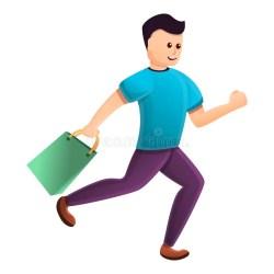 boy shopping trolley running cartoon icon supermarket vector father happy toon robot
