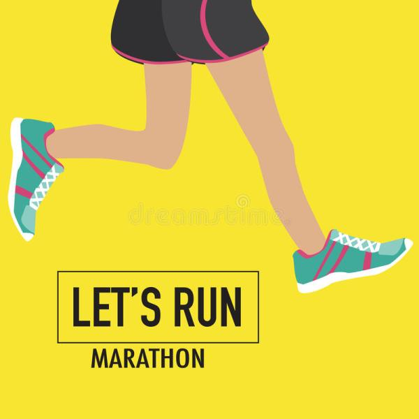 Running Poster With Human Lags Stock - 55495906