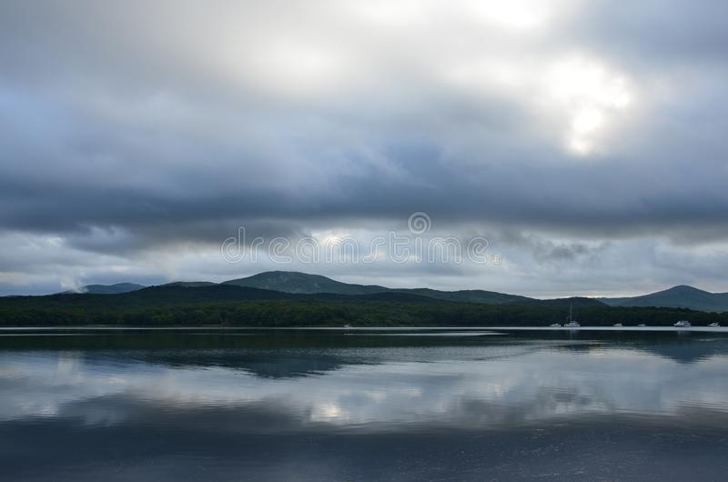 Russia, Vladivostok, Russian Russky Island In Bad Weather Stock Image - Image of great, city: 100159189