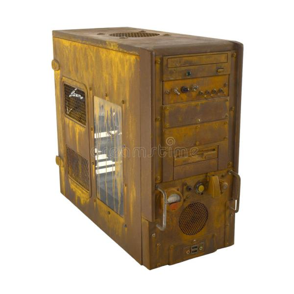 Rusted PC case closed stock photo. Image of oxide, freak ...