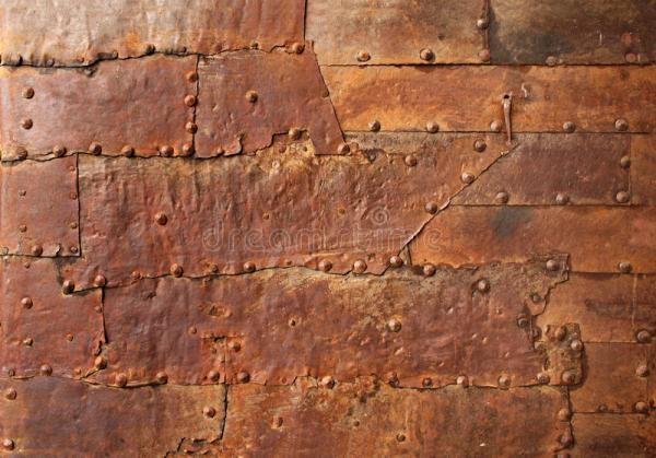 Rusty Metal Texture With Rivets Stock Image Image of