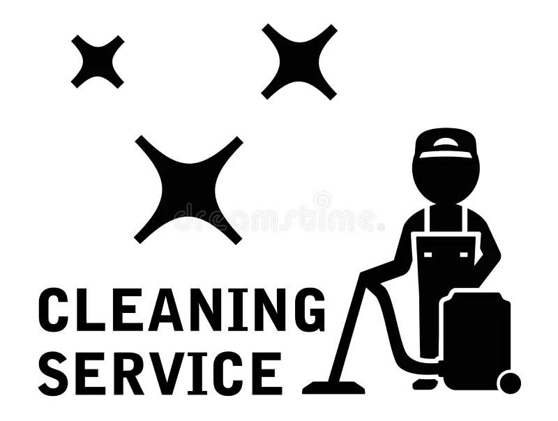 Símbolo Del Servicio De La Limpieza Stock de ilustración