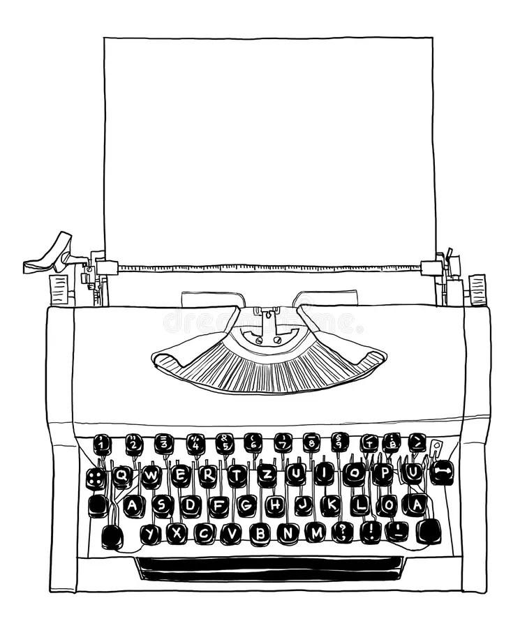 Manual Typewriter Keyboard Portable Vintage Stock