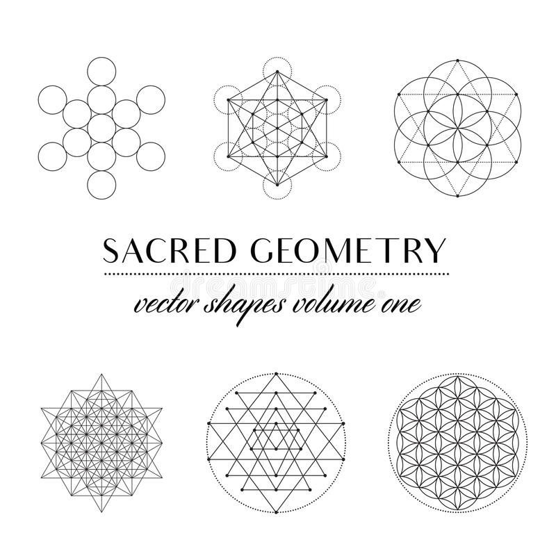 Sacred Geometry Volume Two stock vector. Illustration of