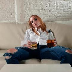 Scotch And Sofa Toddler Bed Argos Sad Depressed Alcoholic Drunk Woman Drinking At Home In ...