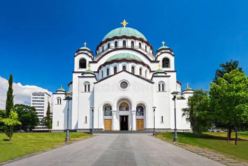 Saint Sava Cathedral stock image. Image of illuminated - 50522863