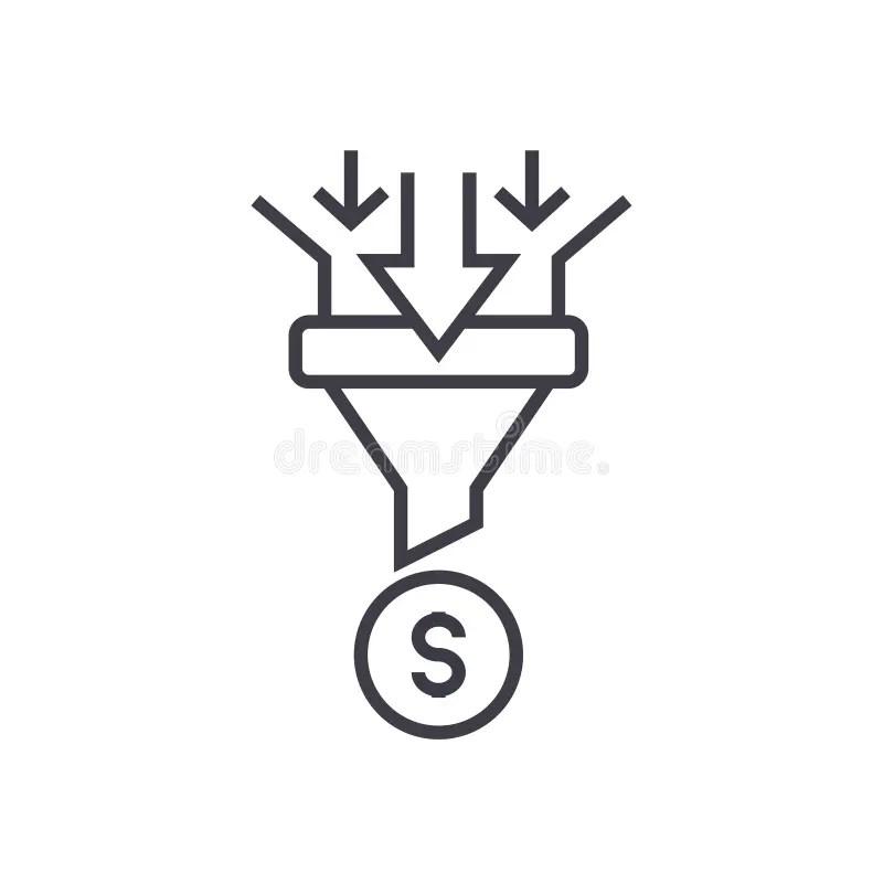 Funnel Icon Vector Symbol Design Stock Vector