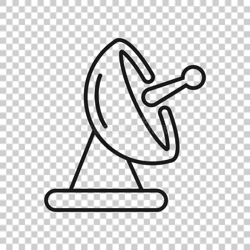 Satellite tower stock illustration. Illustration of