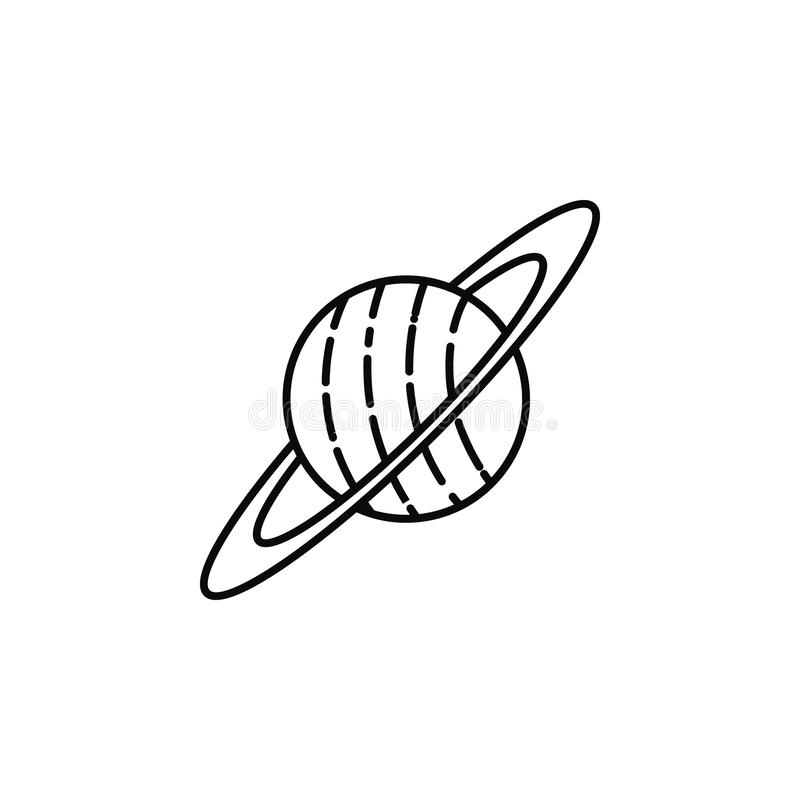 Saturn outline icon stock vector. Illustration of line