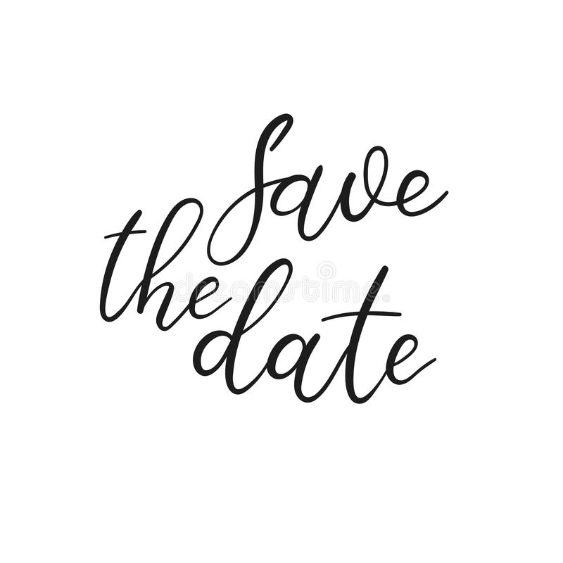 Save The Date Hand Lettering Card, Wedding Invitation