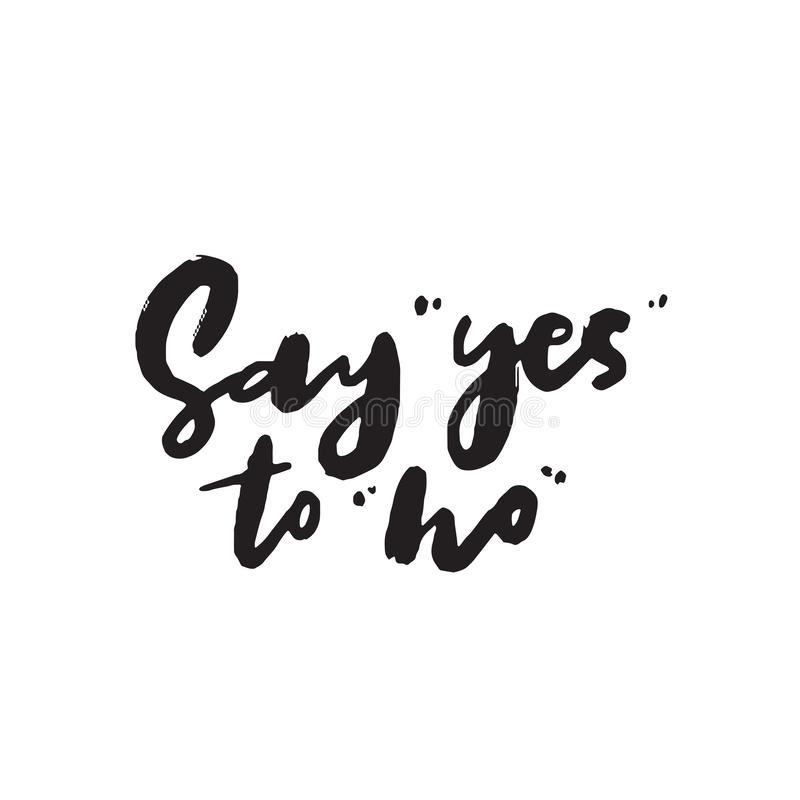 Yes No maybe Sign in hand stock illustration. Illustration