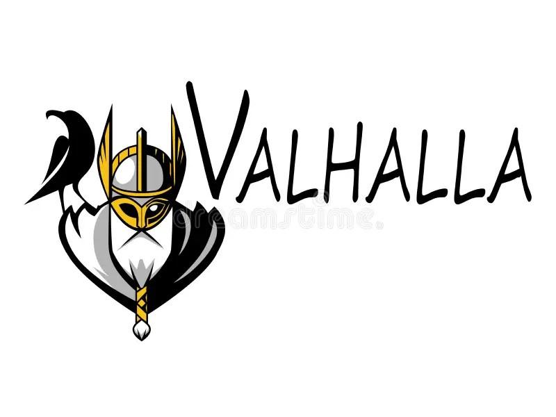 Scandinavian God Odin Illustration Sport Team Or League