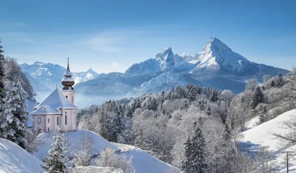 scenic winter landscape in