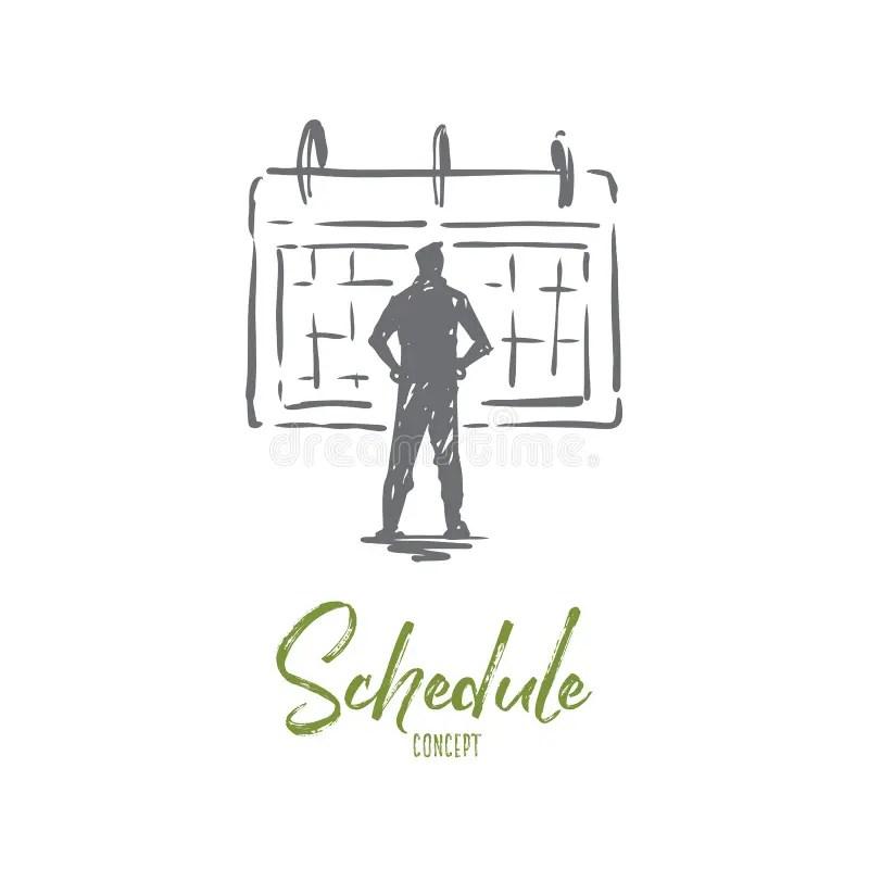 Deadline calendar stock illustration. Illustration of line
