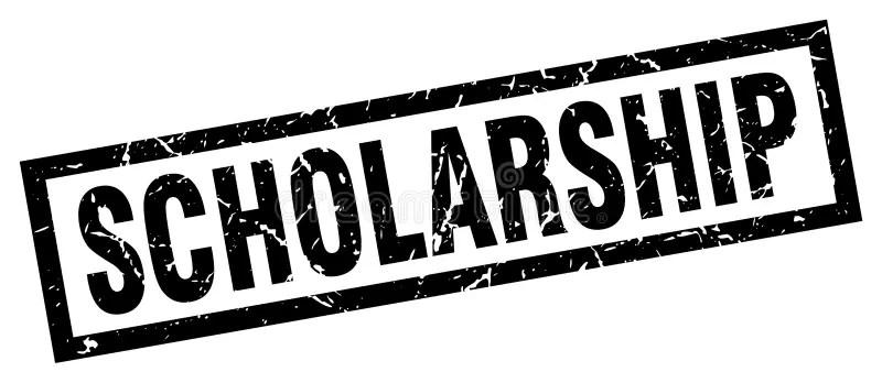 Scholarship stamp stock vector. Illustration of background