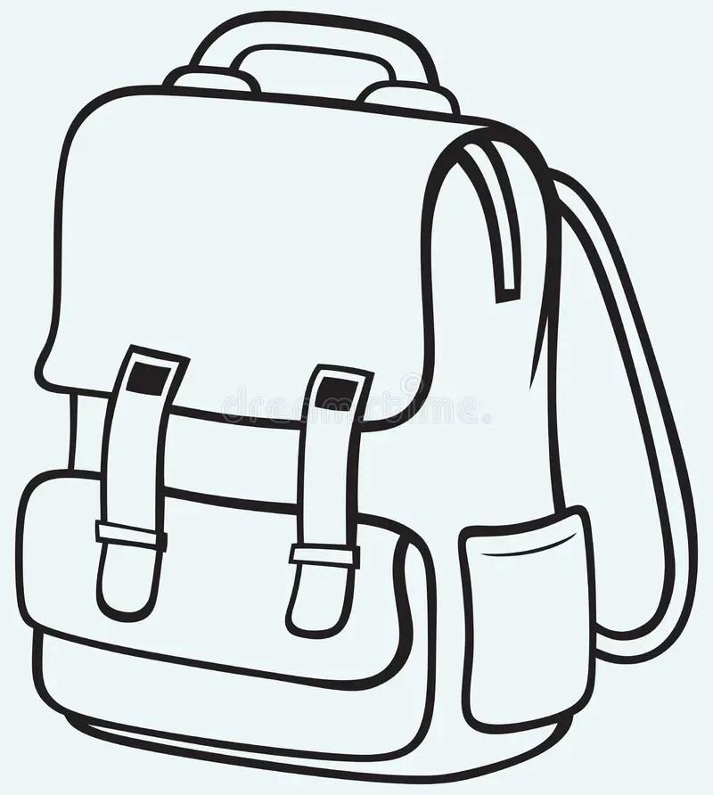 School bag stock vector. Illustration of image, nobody