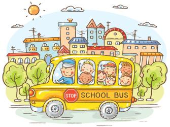 bus happy vector cartoon colorful preview urban