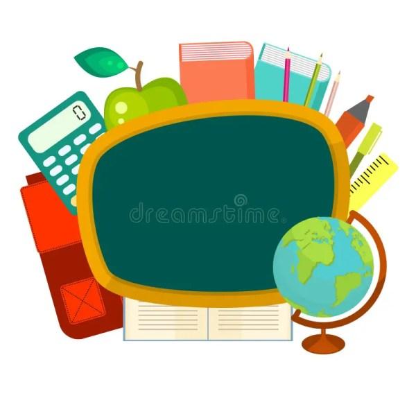 School Supplies Vector Clip Art Objects. Stock
