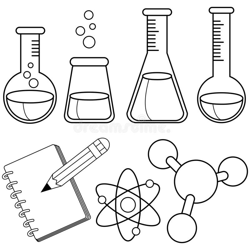 Chemistry bottles stock vector. Illustration of healthcare
