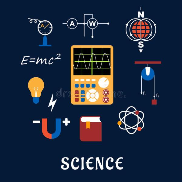 Science Physics Flat Icons Set Stock Vector - 55401225