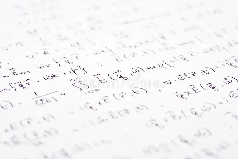 Mathematics, Math Equations Close-up. Math Homework Or