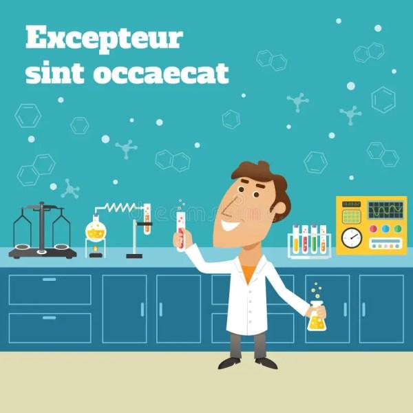 Scientist In Lab Stock Vector - 40411187