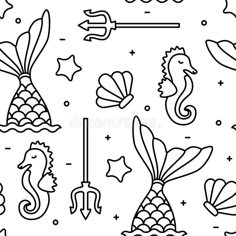 outline mermaid stock illustrations