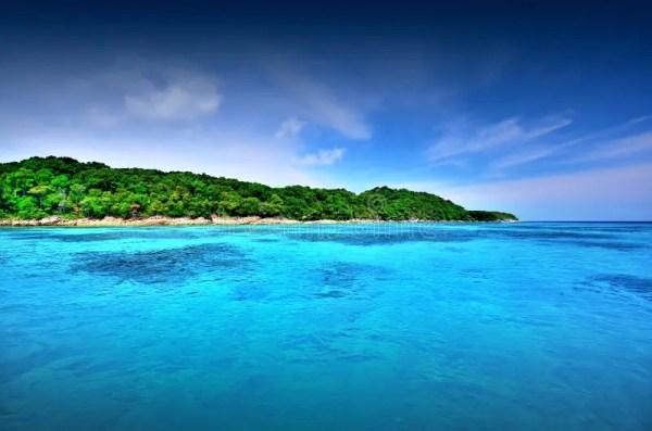 sea sand sun beach blue sky thailand